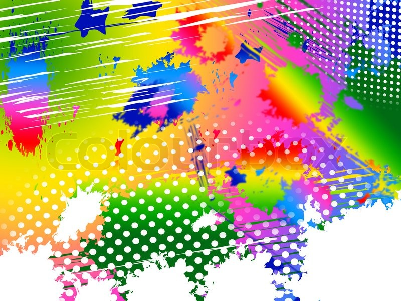 Splash Color Indicates Paint Colors And Painting, stock photo