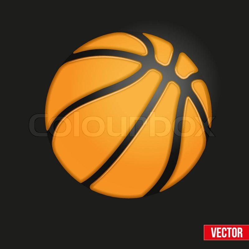 Soft Symbol Of Basketball Ball Realistic Vector Illustration