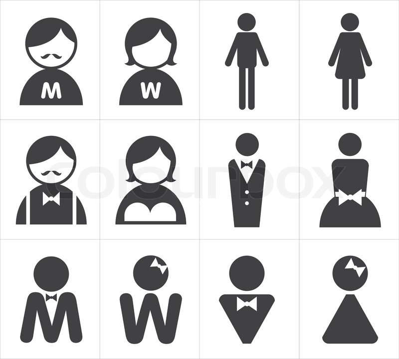 Icon toilet man and woman  vector. Icon toilet man and woman   Stock Vector   Colourbox