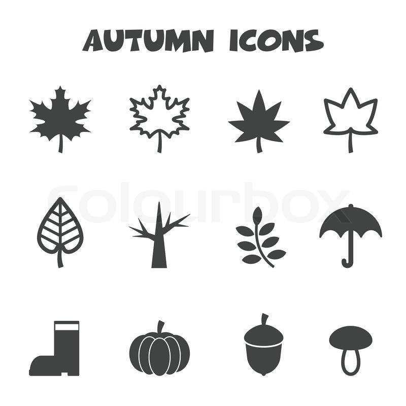 Herbst-Symbole | Vektorgrafik | Colourbox