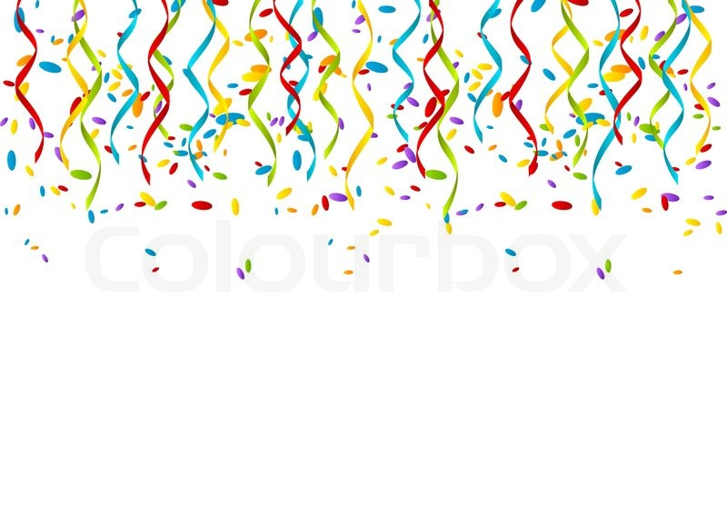 color party ribbons on white background stock vector colourbox
