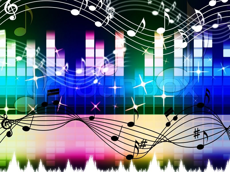 Rainbow Music Background Meaning Colorful Lines And Melody: Rainbow Music Background Meaning Pop Rock Or Rap\