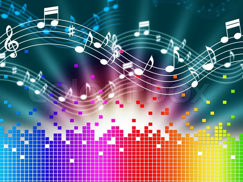 Rainbow Music Stock Images: Rainbow Music Background Meaning Melody ...