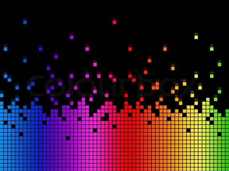 Rainbow Music Background Meaning Colorful Lines And Melody: Rainbow Soundwaves Background Meaning Musical Playing Or