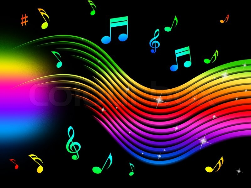 Rainbow Music Notes Background Hd Wallpaper Background Images: Rainbow Music Background Meaning Colorful Lines And Melody