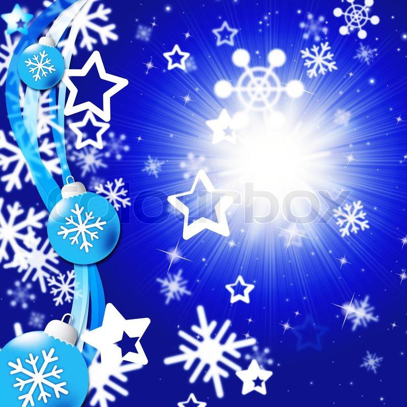 Blue snowflakes background showing bright sun and snowing - Postales de navidad bonitas ...