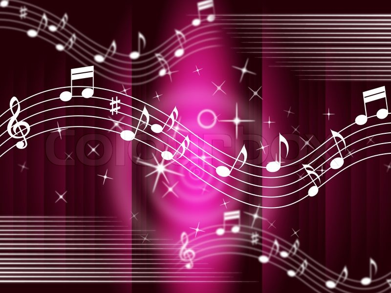 Purple Music Background Meaning Melody And Tune | Stock ...