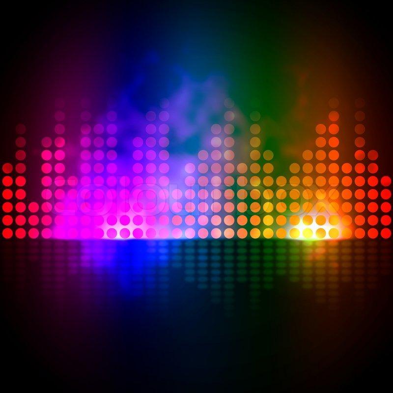 Music Equalizer Background Showing Stock Photo