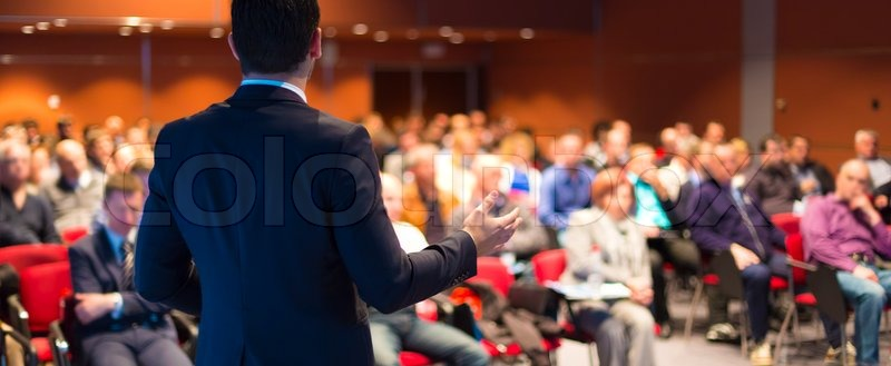 Speaker at Business Conference and Presentation. Audience at the conference hall, stock photo