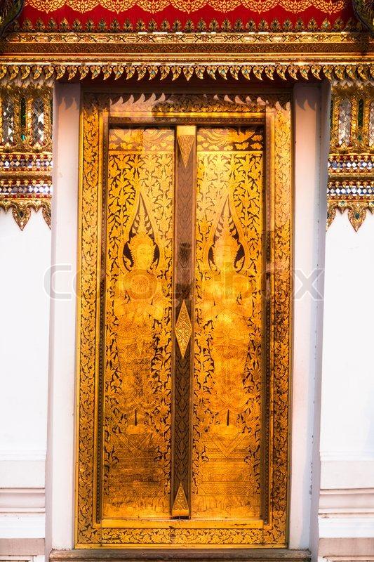 Traditional Thai palace t&le golden entrance.   Stock Photo   Colourbox & Traditional Thai palace tample golden entrance.   Stock Photo ...