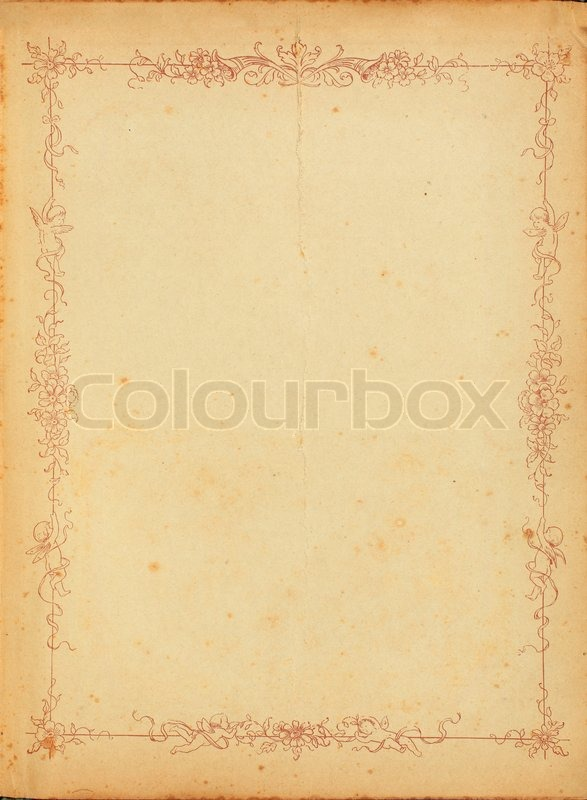photo of old stained yellowed paper