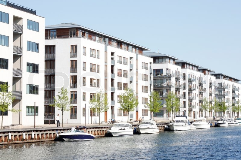 High Quality Editorial Image Of U0027Hi End Waterfront Apartments In Christianshavn,  Copenhagenu0027