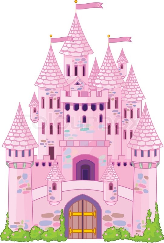 Vector Illustration of a Fairy Tale Princess Castle | Stock Vector ...