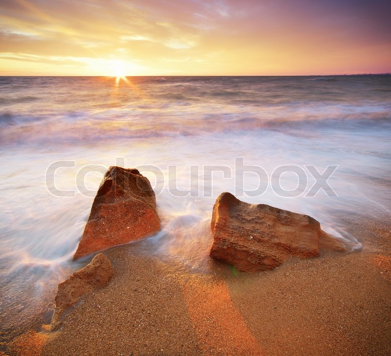 Beautiful seascape. Composition of nature, stock photo