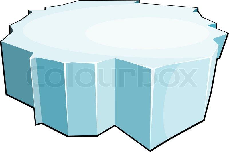 Cartoon ice floe. Isol...