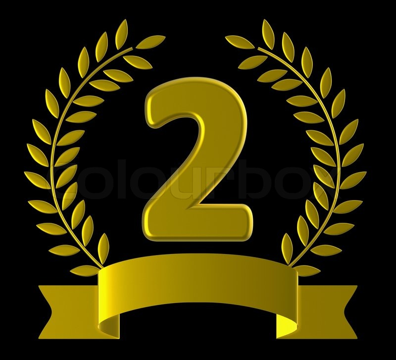 Second Anniversary Represents Happy Birthday And 2Nd, stock photo