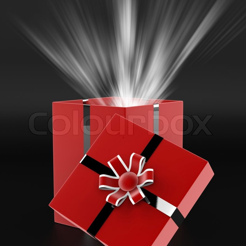 Celebrate Surprise Means Gift Box And Present, stock photo