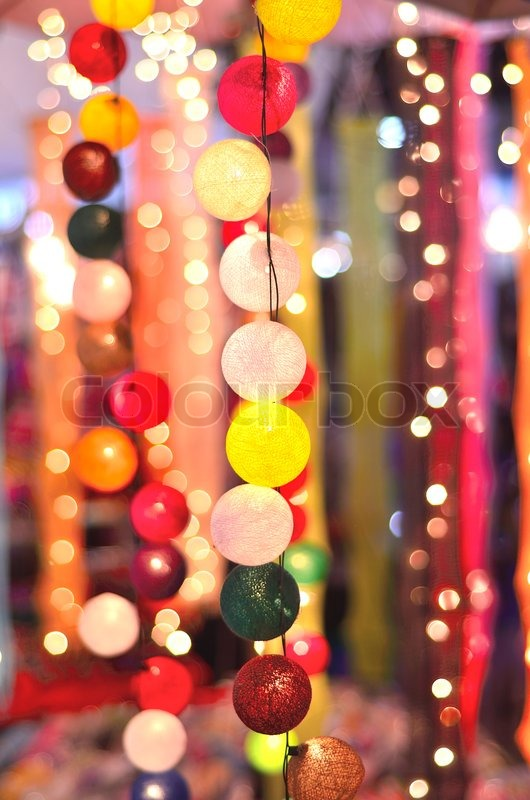 Party night with a light ball, stock photo