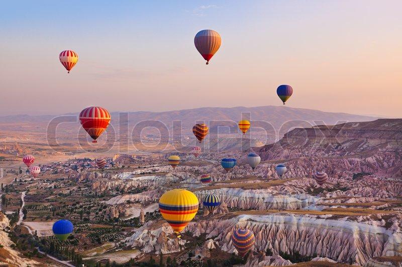 Место где летают на воздушных шарах