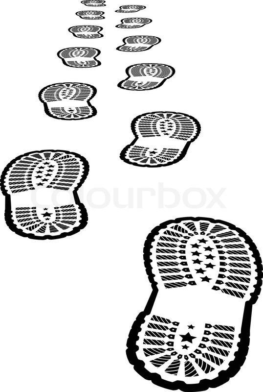 shoe print vector illustration on stock vector