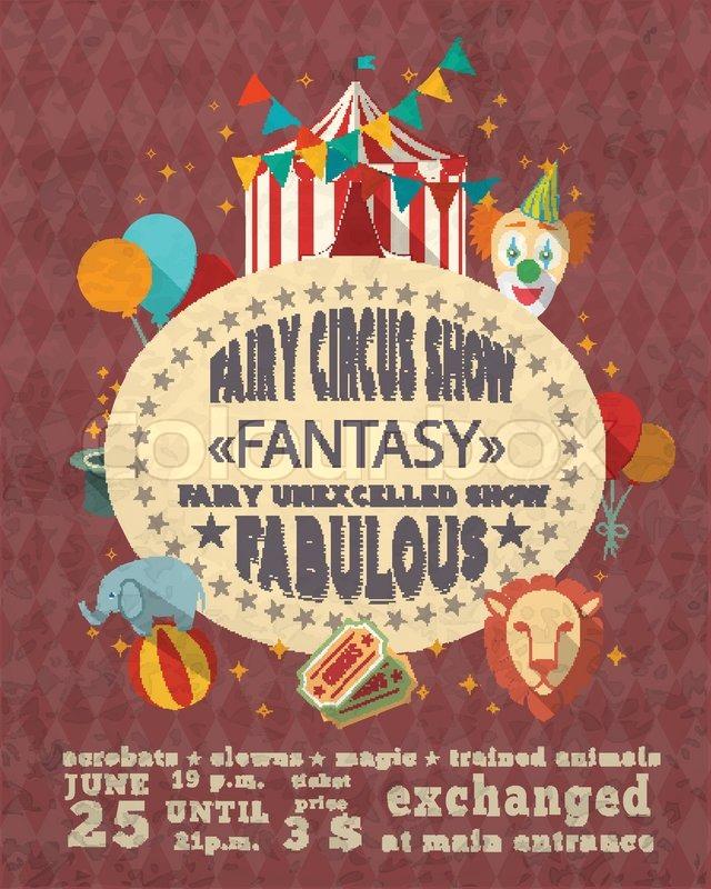 decorative vintage travelling entertainment circus