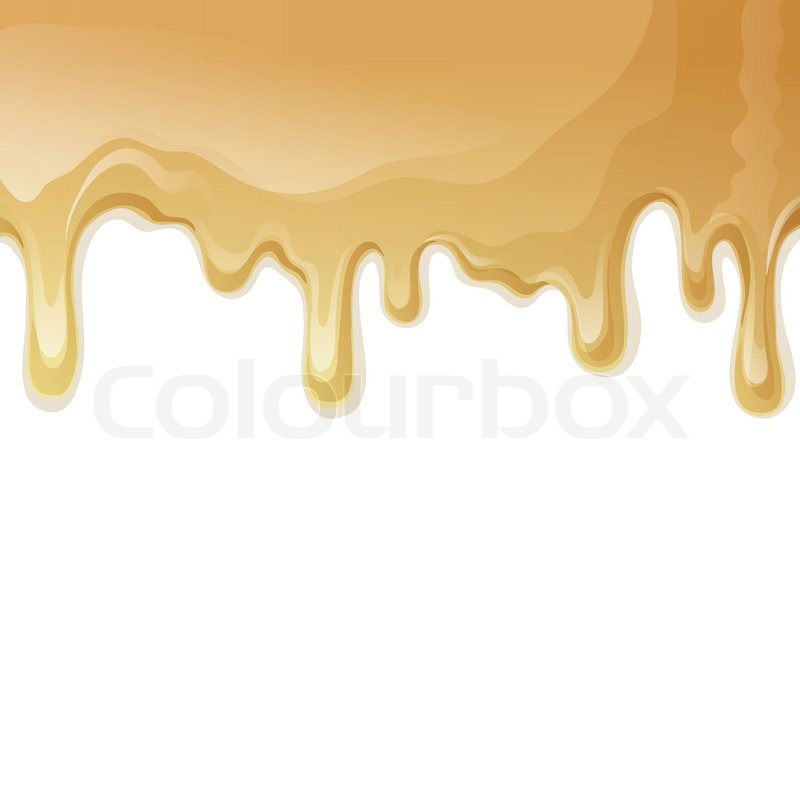 Ice Cream Background Sparking Shiny Decoration Free Vector: Sweets Dessert Food Melted Caramel Drips Background Vector