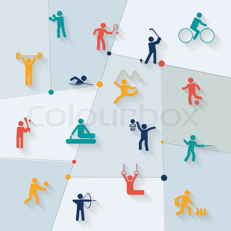 Athletics Golf And Rhythmic Gymnastics Sportive Tournament Elements