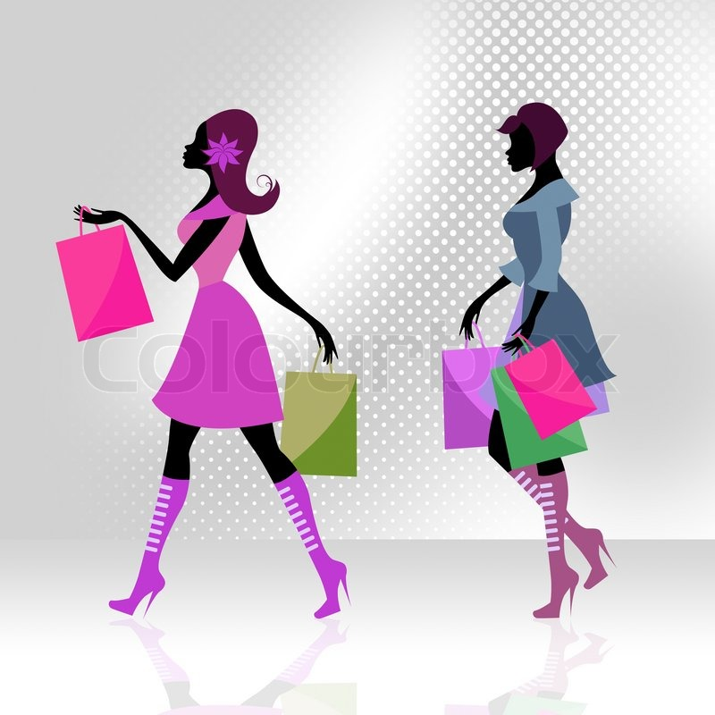 Shopper Women Means Commercial Activity And Adults, stock photo