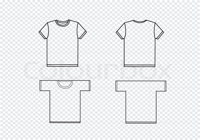 Tshirt Design Templates Stock Vector Colourbox - Tee shirt design template
