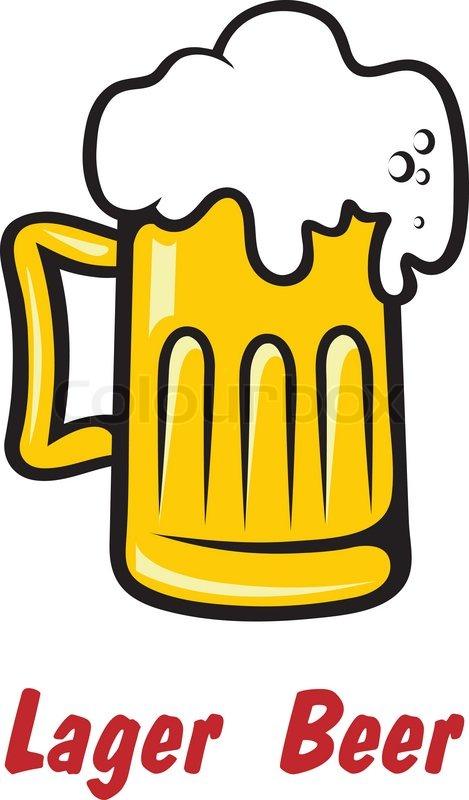 pint bier oder golden schaumig lager vektorgrafik