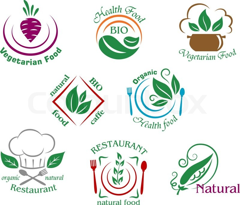 Assorted Restaurant And Vegetarian Stock Vector Colourbox