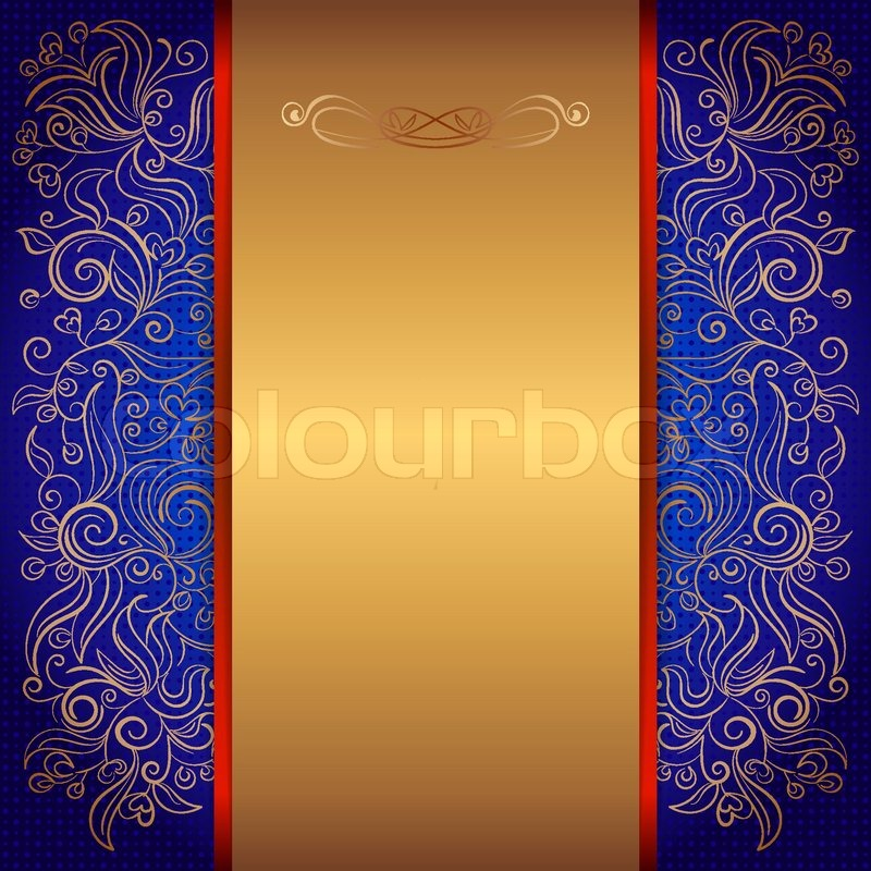 Blue royal template of invitation card with lace pattern for your blue royal template of invitation card with lace pattern for your design eps 10 vector stopboris Image collections