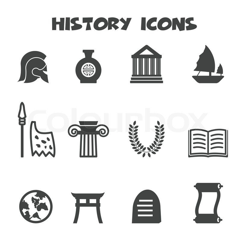 History Icons Mono Vector Symbols Stock Vector Colourbox