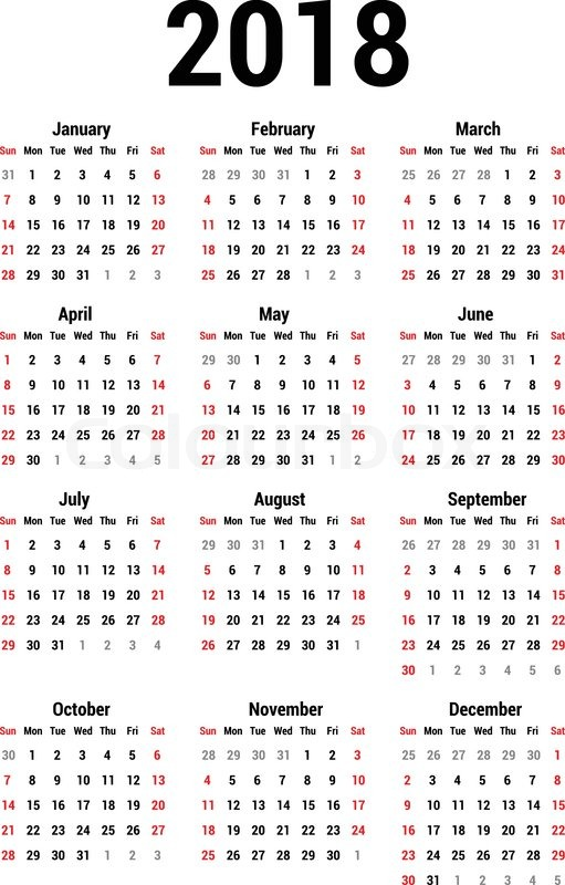 simple calendar for 2017 calendar template vector