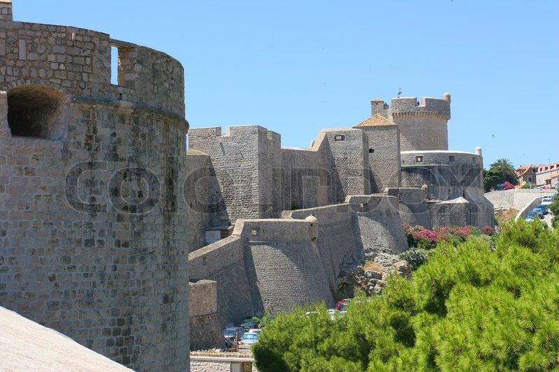Dubrovnik\'s city walls, stock photo