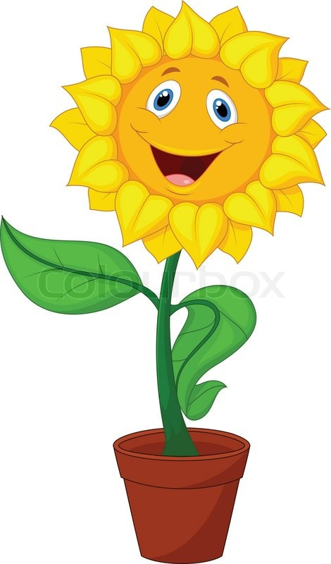 vector illustration of sunflower cartoon stock vector colourbox rh colourbox com sunflower cartoon pictures sunflower cartoon drawing
