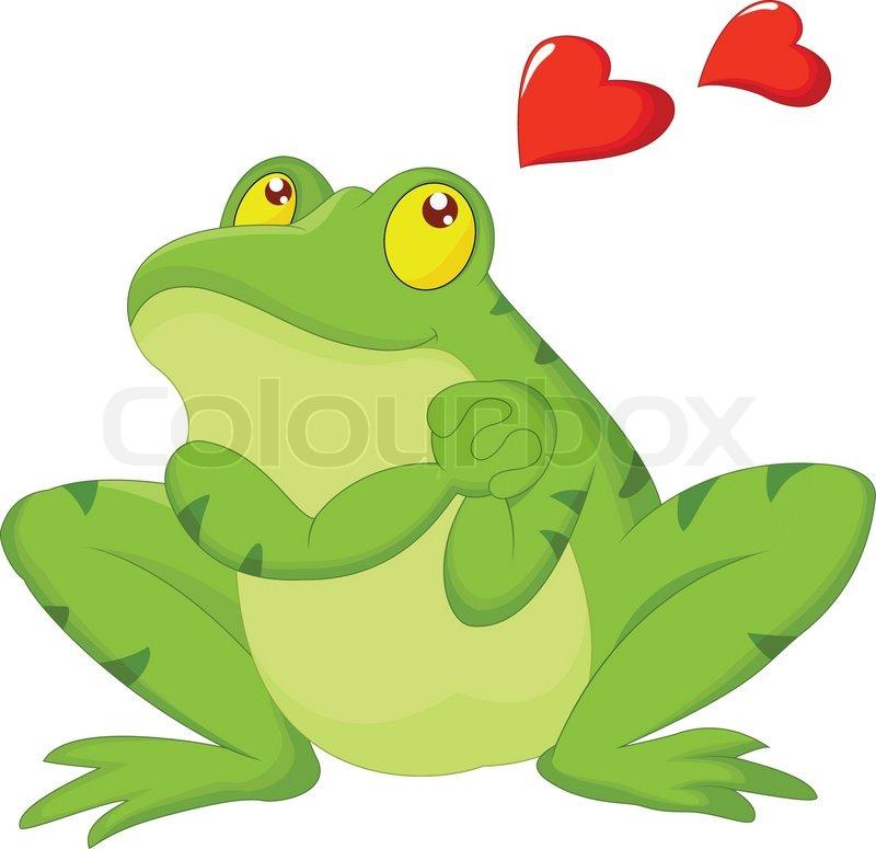 Frosch Cartoon Verliebt Vektorgrafik Colourbox