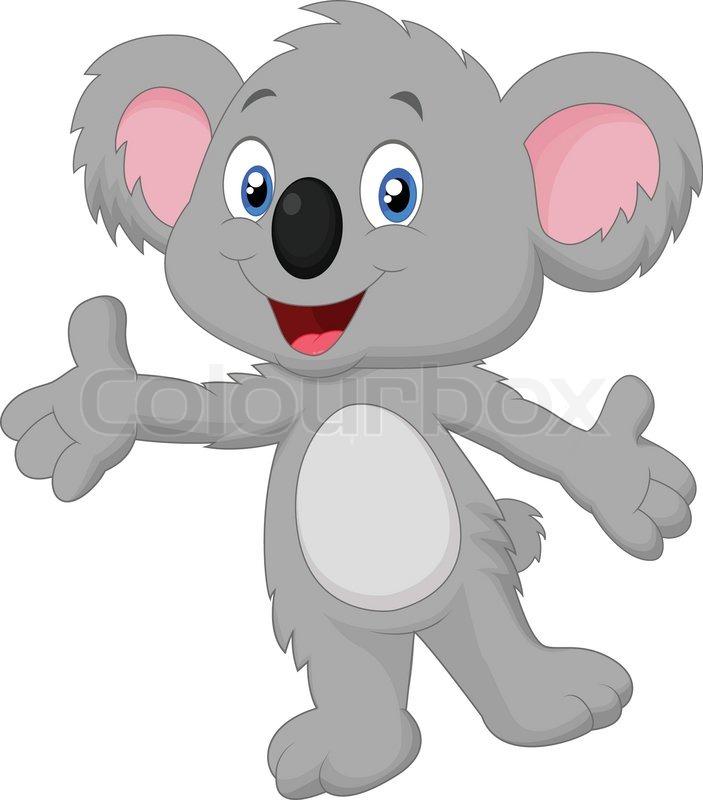 Vector Illustration Of Cute Koala Cartoon Posing Stock