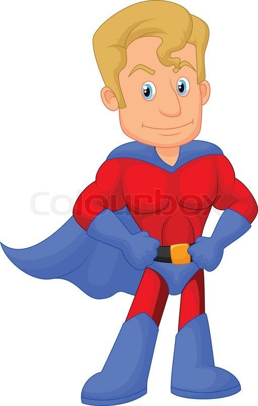 Superhero kid cartoon | Stock Vector | Colourbox