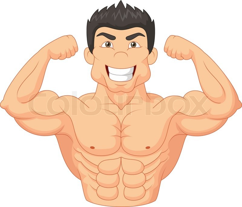 Vector illustration of cartoon bodybuilder stock vector - Cartoon body builder ...