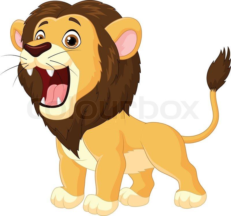 cartoon l u00f6we br u00fcllend stock vektor colourbox Cheetah Print Vector Leopard Print Vector