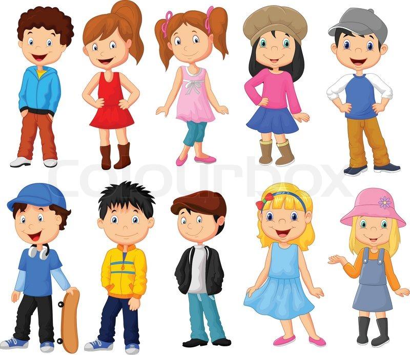 Vector Illustration Of Cute Children Stock Vector