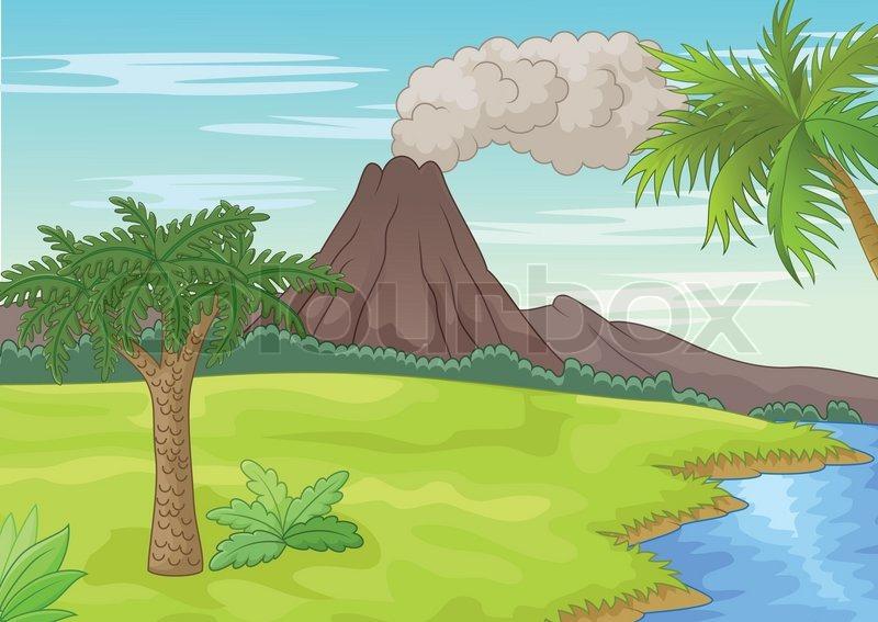 Cartoon Pr 228 Historische Landschaft Vektorgrafik Colourbox