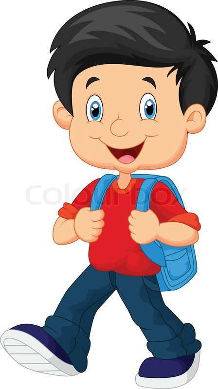 Vector Illustration Of School Boy Stock Vector Colourbox