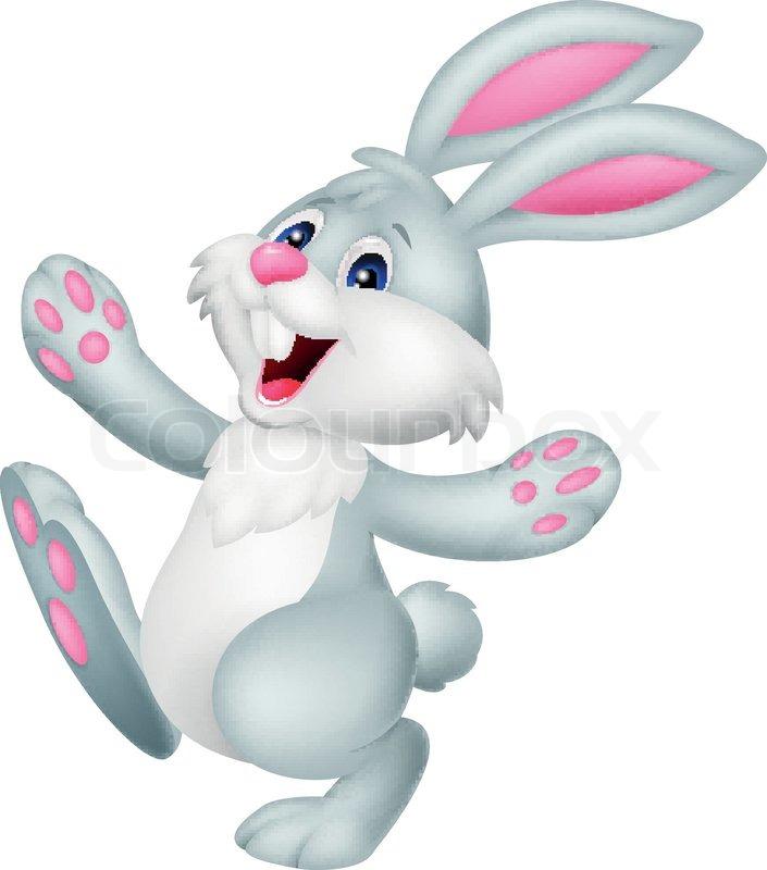 Glückliche Kaninchen Cartoon