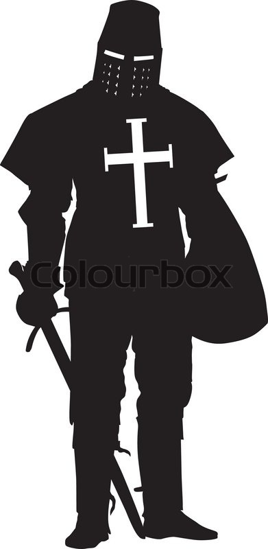 Crusader Warriors Theme Vector 10527445 on Castle Home Plans Medieval