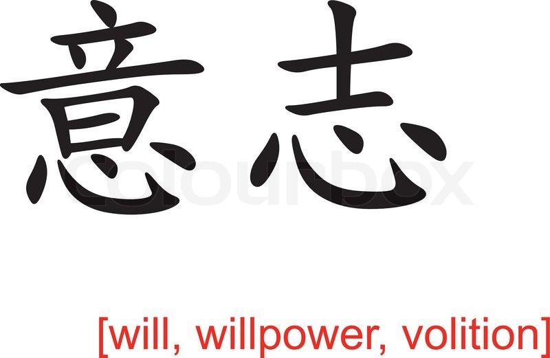 Chinesisches Zeichen Kraft. Chinesisches Zeichen Printed