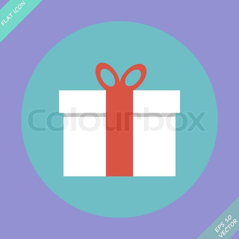 Gift box vector illustration flat design element stock vector gift box vector illustration flat design element vector negle Gallery