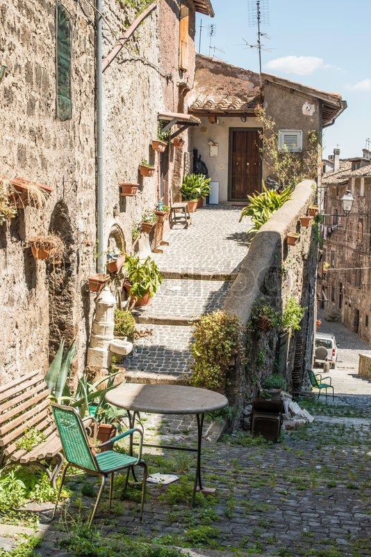 Traditional italian homes old buildings stock photo for Classic italian house