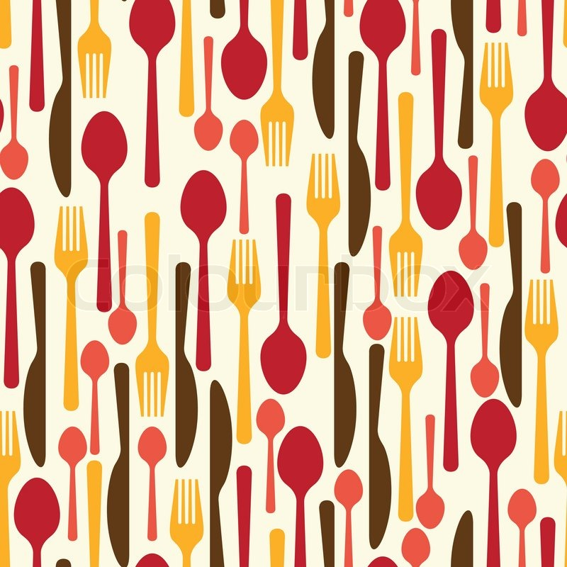Restaurant Kitchen Utensils seamless pattern with restaurant and kitchen utensils. | stock